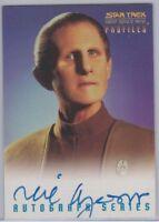 STAR TREK DS9 - PROFILES - RENE AUBERJONOIS AS ODO AUTOGRAPH CARD - BV$125