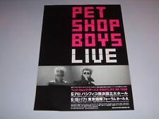 PET SHOP BOYS - Live Japanese 1999 promo A4 flyer for Japanese tour