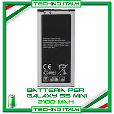 BATTERIA PER SAMSUNG PER GALAXY S5 Mini G800F 2100mAh CAPACITA' ORIGINALE
