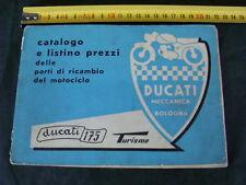 MOTO DUCATI 175 TURISMO CATALOGO E LISTINO PREZZI PARTI DI RICAMBIO OLD ITALY