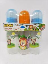 Set of 3 Safari Baby 8 oz. Feeding Bottles - New