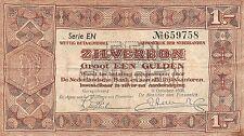 Netherlands 1 zilverbon 1938 Pick 61 Fine , EN 659758