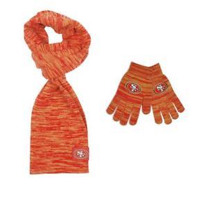 Officially Licensed NFL Women's Color Blend Scarf And Glove Set 613628-J
