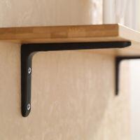 2pcs Rustic Wall Mounted Shelf Bracket L Shaped Supporter Brace 10x15cm