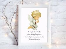 print angel in book of life baby loss a4 baby's birth picture,UNFRAMED