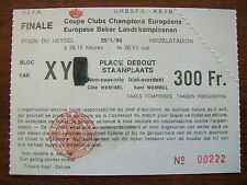 Vintage 1985 European Cup Final Ticket Liverpool v Juventus (Heysel Stadium)