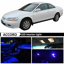 10x Blue LED Interior Map Dome Lights Package Fits 1998-2002 Honda Accord Coupe