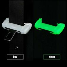 Car Accessories Seat Belt Buckle Clip Silicone Anti-Scratch Cover White Safety