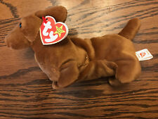 VERY RARE & Retired Ty WEENIE Beanie Baby with BLANK HANG TAGS and PVC Pellets