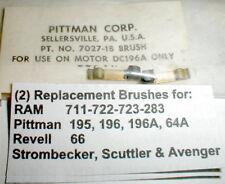 1 Pair Motor Brushes for 196A Pittman Racing Motor Vintage Slot Car NOS #7027