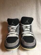 quality design 4d905 75ddf Men s AIR JORDAN FLIGHT 1 (372704-002) Basketball Shoes Black Grey Size