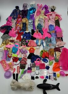 Huge Lot Of Barbie Clothes & Accessories 80s 90s 2000s Used Good to Acceptable