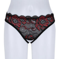Women Crotchless Lace G-string Briefs Panties Thongs Lingerie Underwear Knickers