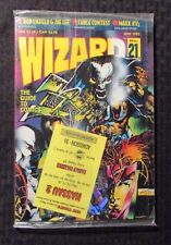 1993 WIZARD Comics Magazine #21 SEALED w/ Promo Card - Jae Lee Cover