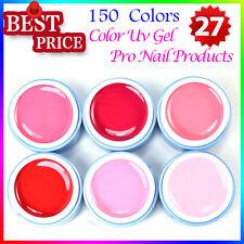 6PCS Pure Color UV Gel Nail Polish Shiny Cover Extension Builder Nail Kits 5ml