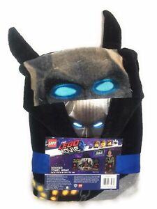 """Lego Movie 2  BATMAN Bat Bunker Hooded Towel Wrap Pool Beach Bath 24x50"""" Inches"""