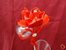 Boite à dragée en forme de rose rouge x10