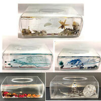 NEW 3D Floating Decorative Tissue Box Holder Cover Storage Napkin Container