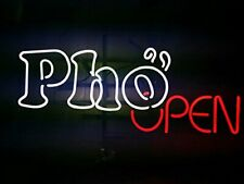 """New Pho Open Neon Light Sign 24""""x20"""" Lamp Poster Real Glass Beer Bar"""