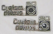 Chevrolet Chevy 73-80 Custom Deluxe 20 Truck emblems GM #14016634 or #349693
