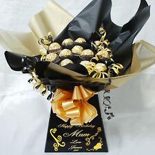 MINI NOIR FERRERO chocolat sucré BOUQUET PANIER (avec personnalisé message