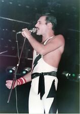 FREDDIE MERCURY PHOTO 1984 UNIQUE QUEEN UNRELEASED HUGE 12 INCH COLOUR CLOSE UP