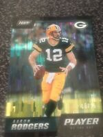 2018 PANINI PLAYER OF THE DAY AARON RODGERS WIND CHIMES #15/25