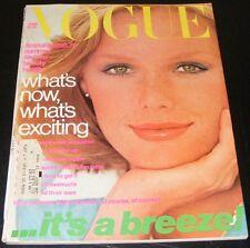 Vogue magazine June 1976  Patti Hansen cover by scavullo