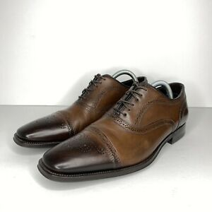 To Boot New York Adam Derrick Made In Italy Brown Dress Shoes Men's Size 8