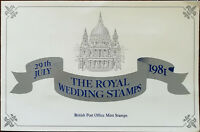 The Royal Wedding Stamps 9th July 1981 British Post Office Mint Stamps