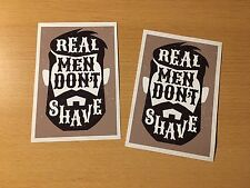 2x Barbe Autocollant Sticker Beard Don 't Shave Hippster Old School Retro Neuf t001