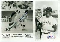 Willie Mays PSA DNA Coa Hand Signed 5x7 Photo Autograph