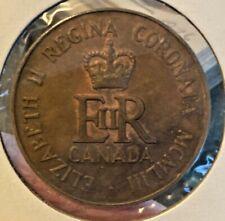 Canada Queen Elizabeth II Coronation Commemorative Token 1953