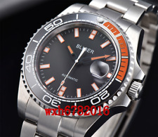 43mm BLIGER Mechanical Automatic Mens Watch Ceramic bezel sapphire crystal