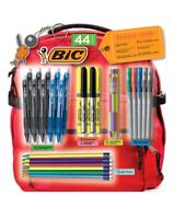 *BiC Backpack School Supplies #2 Pencils, Ball & Gel Pens, Markers, 44 Count.