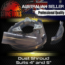 "Dust Shroud 4""-5"" for Vacuum Dust Extraction for Angle Hand Grinder - Universal"