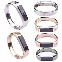 Jewelry Metal Flower Stainless Watch Band Strap Bracelet Bangle For Fitbit Alta
