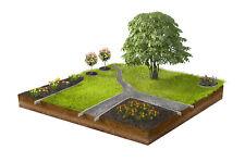 Mähkante Rasenkante mit verstärkte Bodeneintauchkante 18 cm hoch Schmal 1 Stück