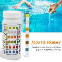6In1 50Pcs Swimming Pool SPA Tests Strips Chlorine pH Alkalinity Water Hardness