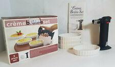 Bed Bath & Beyond Creme Brulee 5 Piece Set - Torch + 4 Ramekins - New Open Box