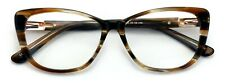 Women Premium Acetate Big Lens Cateye Reading Glasses with Gold Accent - Readers