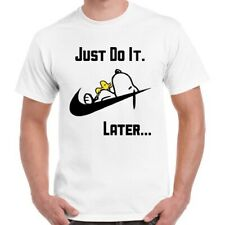 Snoopy Dog Just Do it Later Lazy Peanuts Woodstock Unisex T Shirt 2996
