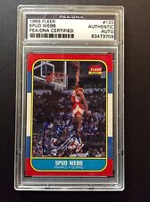 1986-87 FLEER SPUD WEBB ROOKIE CARD AUTO SIGNED RC ATLANTA HAWKS PSA DNA AU
