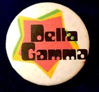 DELTA GAMMA Sorority Button Pin College School Collectible 1970's