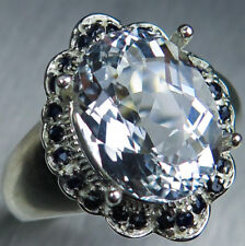 4.55cts Natural Goshenite Beryl colourless aquamarine 925 sterling silver ring
