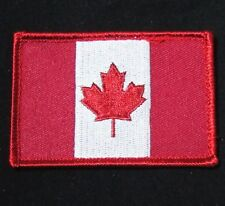 CANADA FLAG ARMY TACTICAL MILITARY MORALE BADGE WHITE RED VELCRO PATCH