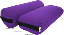Yoga Bolster Round or Rectangle firm STUDIO QUALITY, MADE IN USA, Bean Products