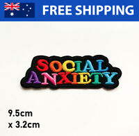 Social Anxiety Embroidered Patch - Embroidery Patches Iron Sew On Badge