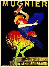 Mugnier Aperitif au Vin de Bourgogne Wine Vintage Advertisement Art Poster Print
