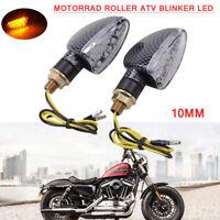 2x Motorrad Roller ATV Blinker LED 10mm Universal für Honda Yamaha Kawasaki